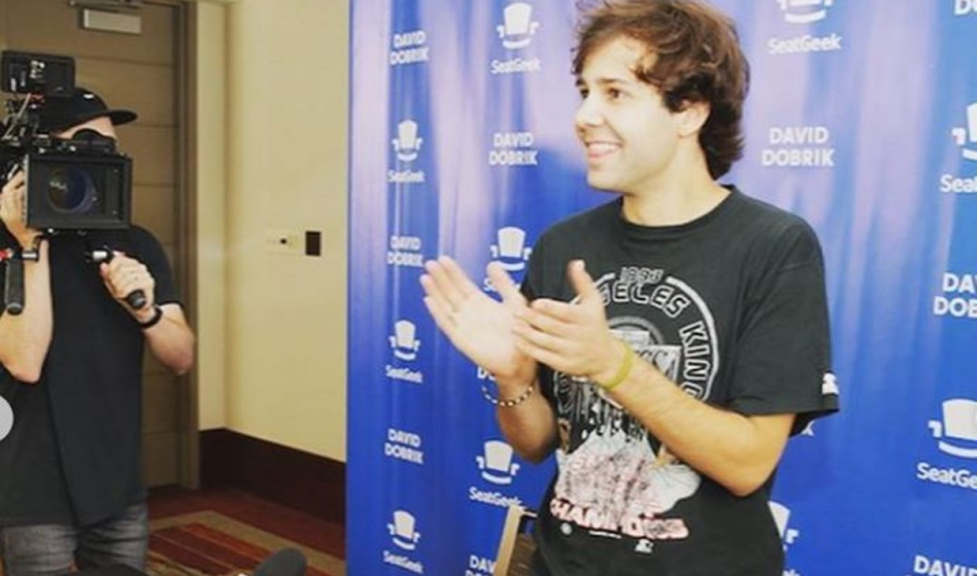 David Dobrik's Unique Relationship With SeatGeek Is The Stuff Branded Content Dreams Are Made Of
