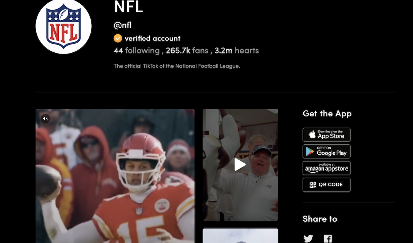 Insights: The Future Of The NFL Is TikTok, And Other Hail Mary Passes For Continued Relevance