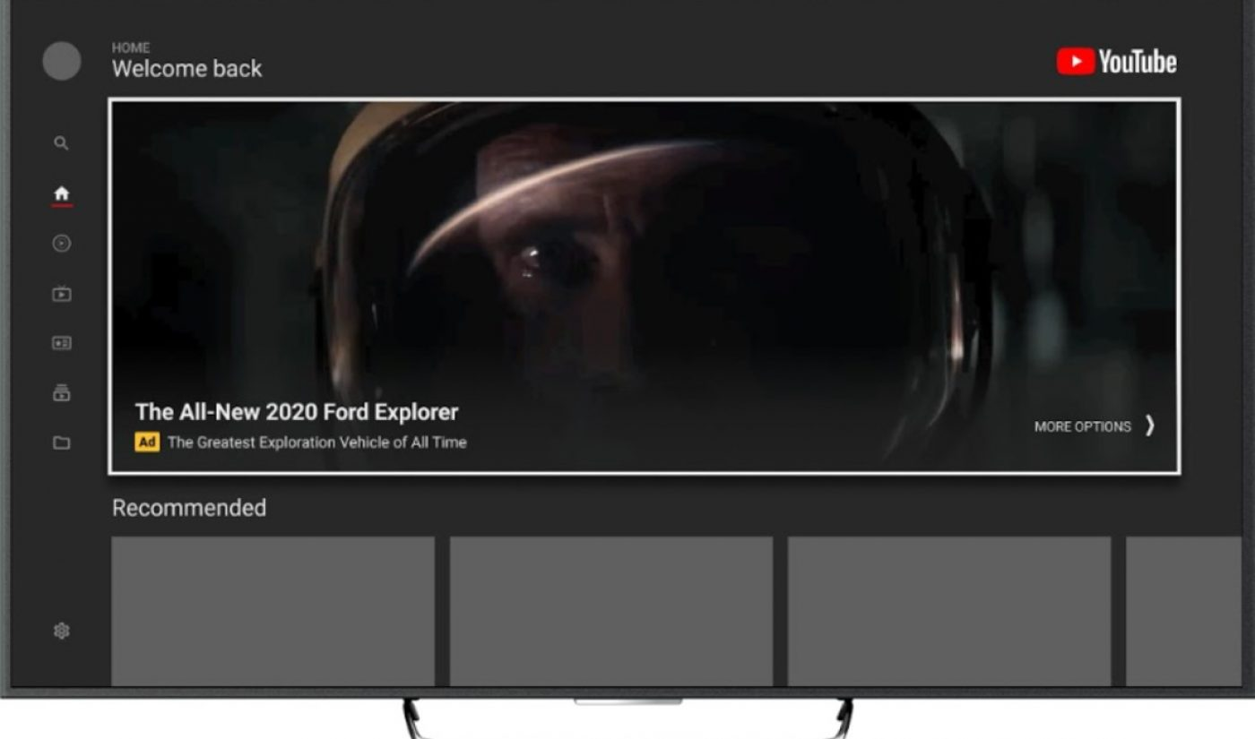 YouTube Is Bringing Its Most Prominent Ad Product, The Masthead, To Smart TV Screens