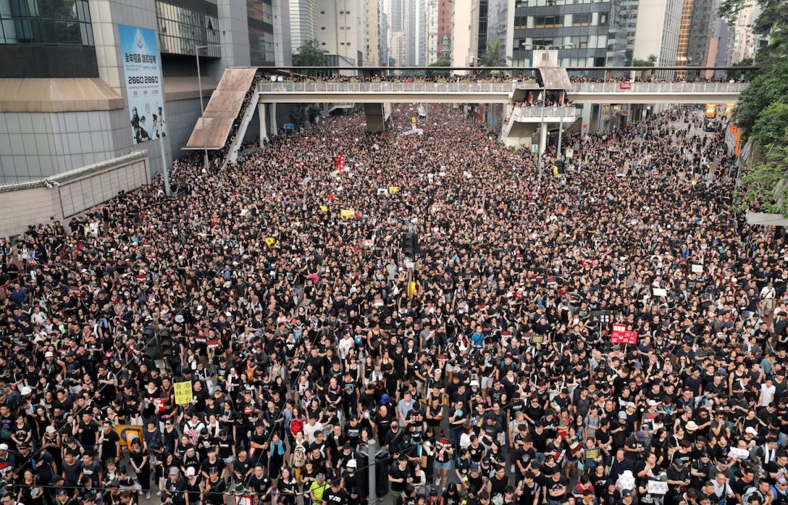 2 million protesters gather in Hong Kong