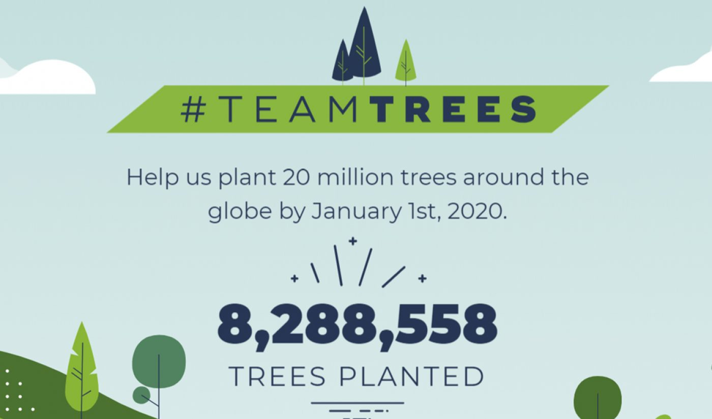 Elon Musk Contributes $1 Million To MrBeast's #TeamTrees, Pushing Total To $8.2 Million In 5 Days