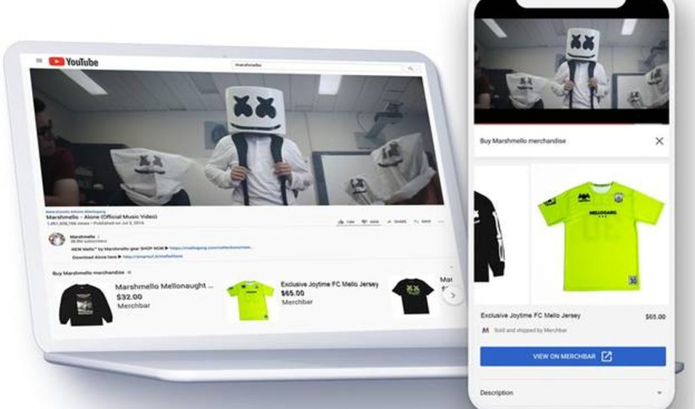 YouTube Pacts With MerchBar To Help 'Official Artist Channels' Drive Merch, Vinyl Sales