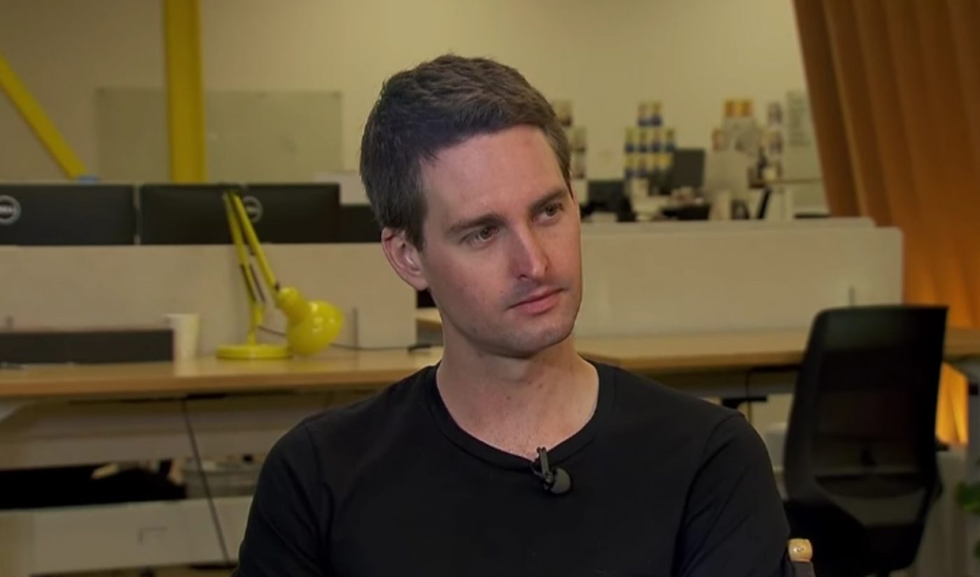 Evan Spiegel Says Snapchat Has A Team That Fact-Checks All Political Ads