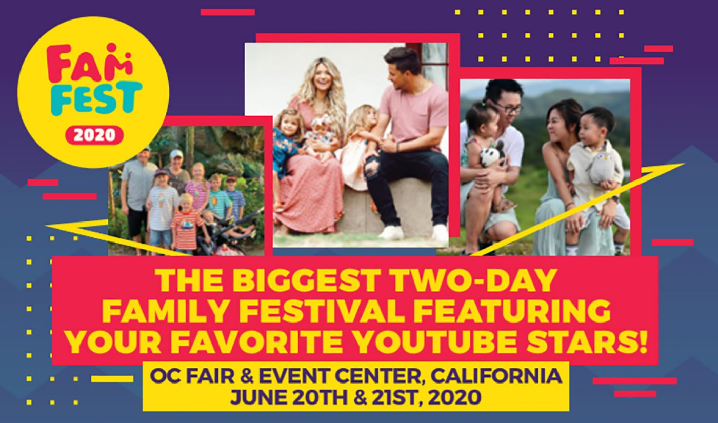 New YouTuber Event 'FamFest' Wants To Bring Together Family Channels And Fans Of All Ages (Exclusive)