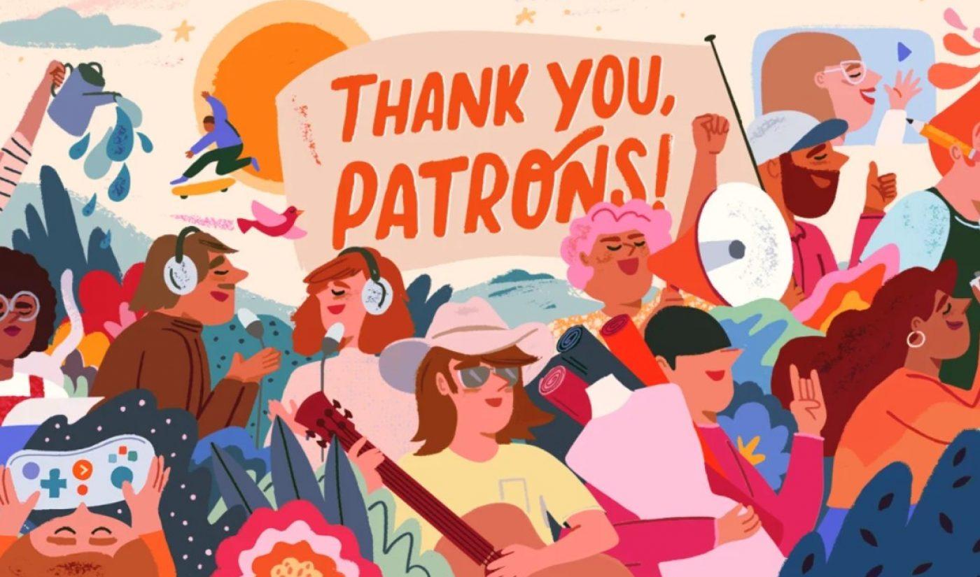 Patreon Now Counts 4 Million Patrons That Have Paid Creators $1 Billion To Date