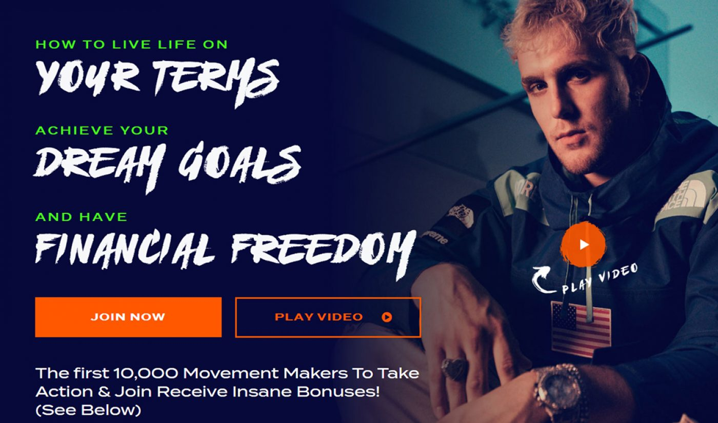 Jake Paul Launches 'The Financial Freedom Movement,' A $19.99/Month Program For Kids To Become Influencers