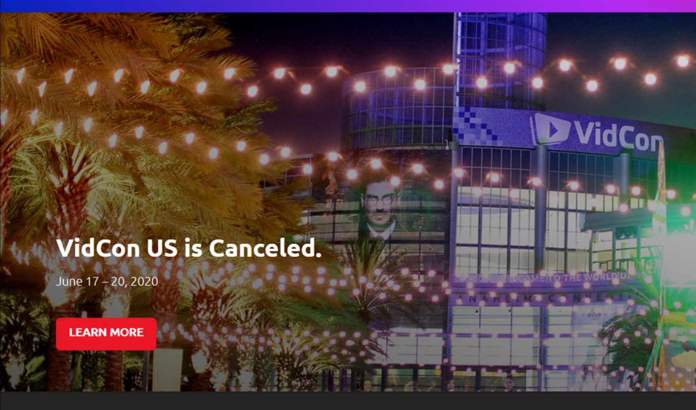 Coronavirus Cancels VidCon 2020, Organizers Hoping To Schedule An Event For This Fall