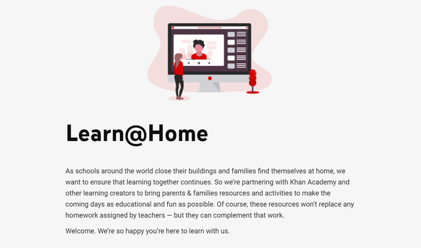 YouTube Launches 'Learn@Home' Educational Hub For Kids Kept Home By COVID-19