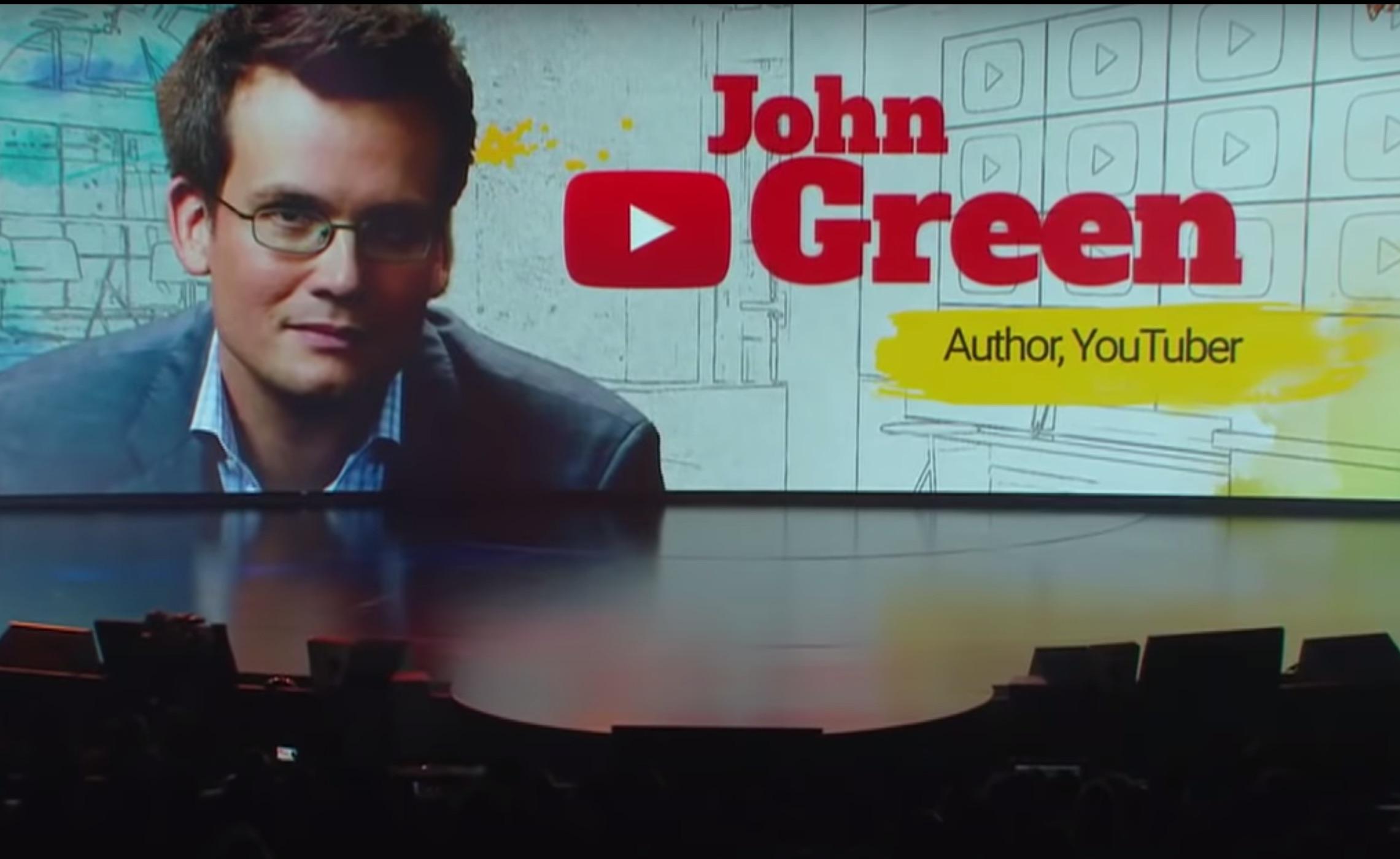 John Green speaks at YouTube Brandcast