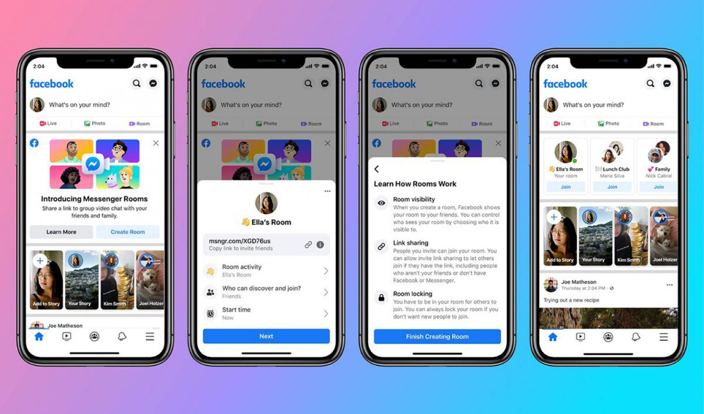Facebook Comes For Zoom With New Videoconferencing Feature 'Messenger Rooms'