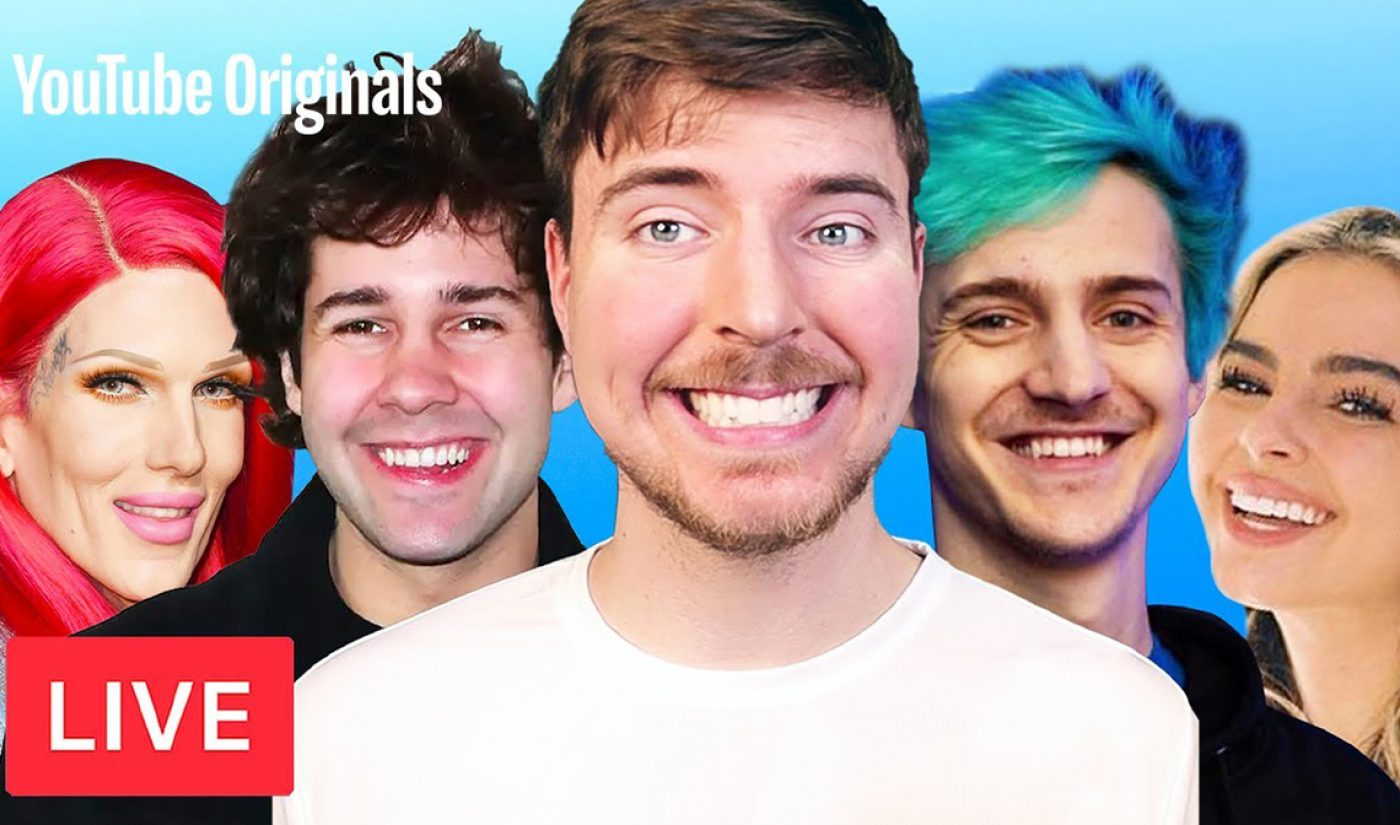MrBeast's 'Creator Games' Is YouTube's Most-Watched Live Original Ever, With 662K Concurrent Viewers