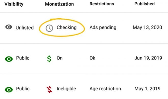 YouTube Introduces New Grey 'Clock' Monetization Icon So Creators See Less Flip-Flopping