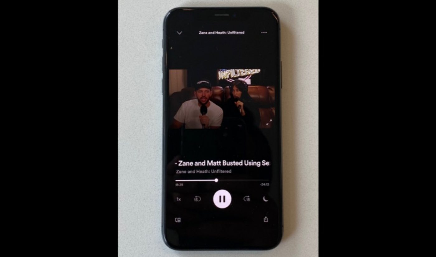 Spotify Is Now Testing Native Video Podcasts, Beginning With Zane Hijazi And Heath Hussar's 'Unfiltered'