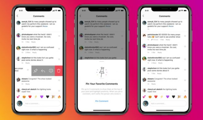 Instagram Rolls Out Ability To Pin Three Comments To The Top Of Any Thread