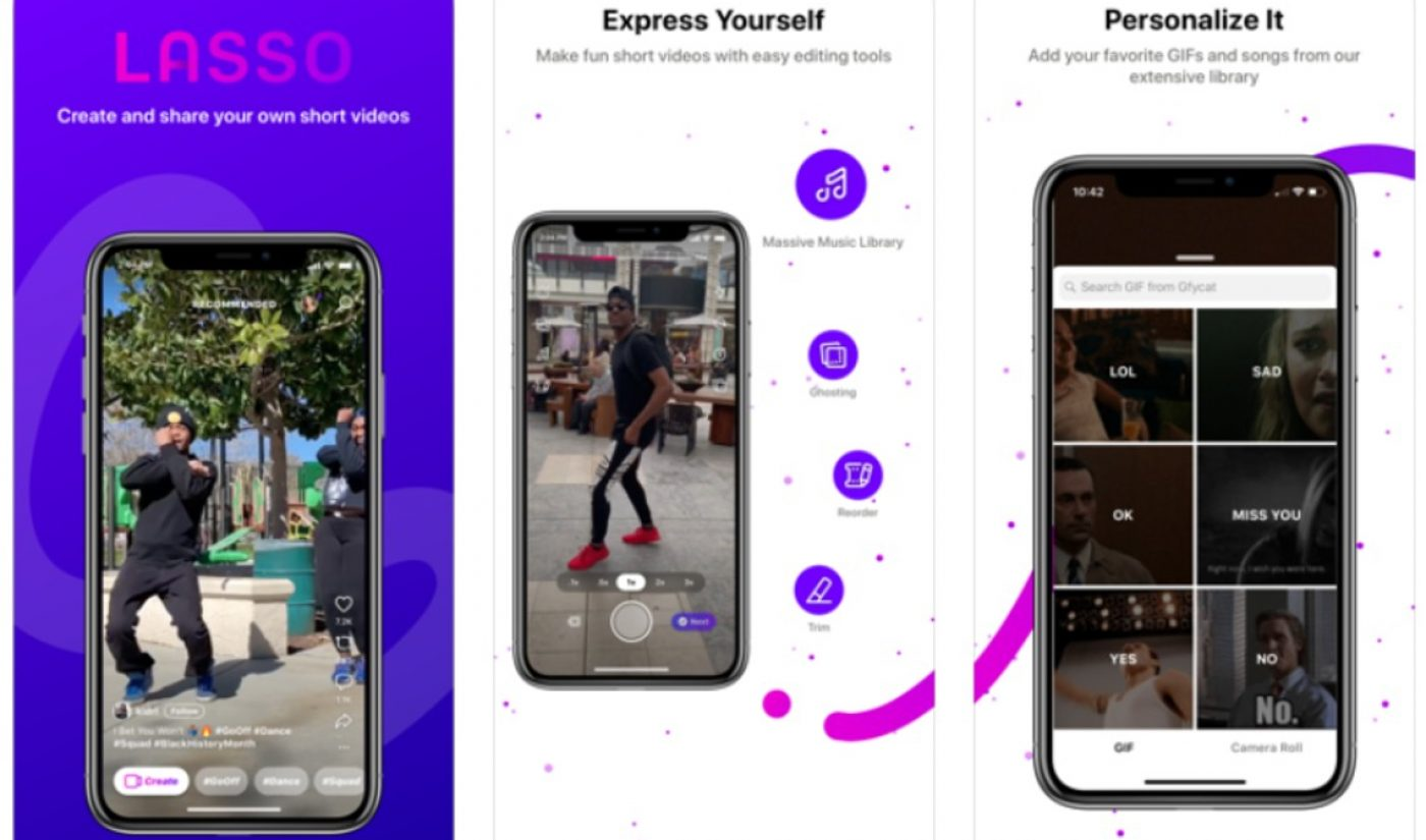 Facebook Shutters TikTok Competitor 'Lasso', As Instagram's Own Clone 'Reels' Expands To New Markets