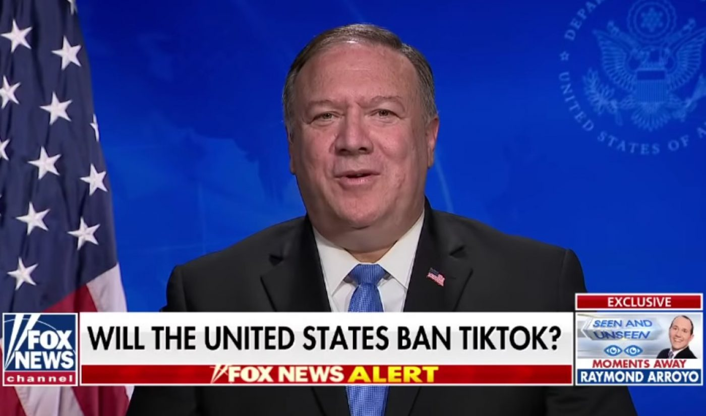 "Secretary Of State Mike Pompeo Says U.S. Is ""Certainly Looking At"" A TikTok Ban"