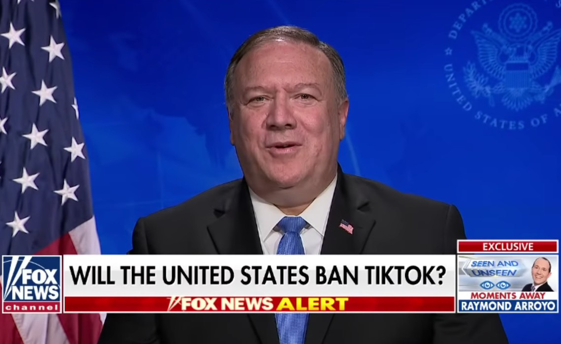 """Secretary Of State Mike Pompeo Says U.S. Is """"Certainly Looking At"""" A TikTok Ban"""