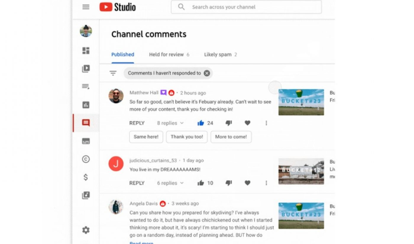 Google Has Developed Auto-Generated Comment-Replying Technology For YouTube Creators