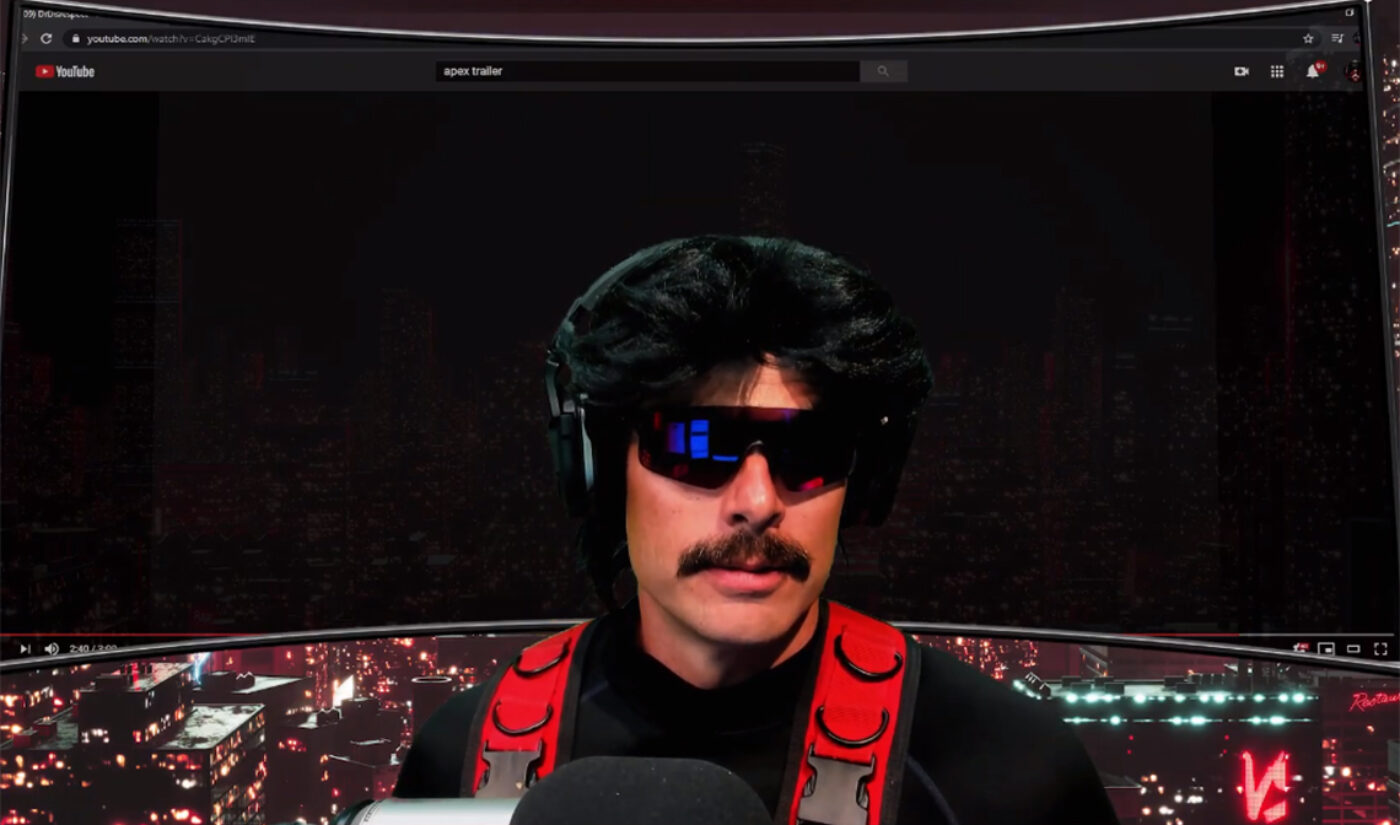 Half A Million People Watched Dr. DisRespect's First Post-Permaban Live Stream On YouTube
