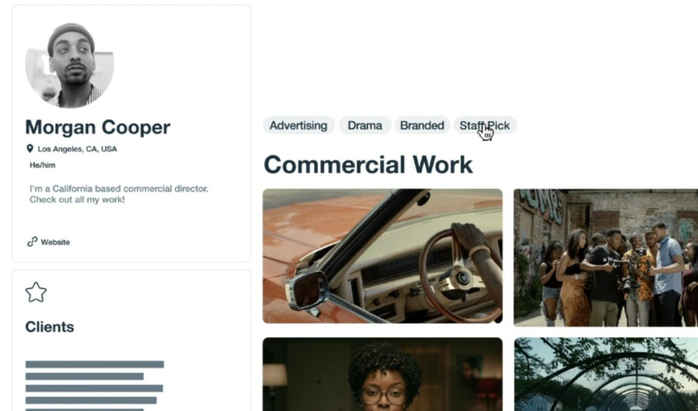 Vimeo Revamps User Profiles To Help Video Professionals Nail Down Job Prospects