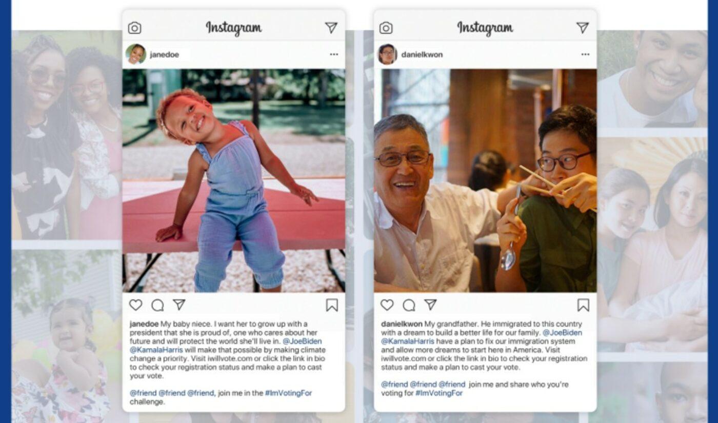Joe Biden Taps Portal A For #ImVotingFor Influencer Campaign On Instagram, Twitter
