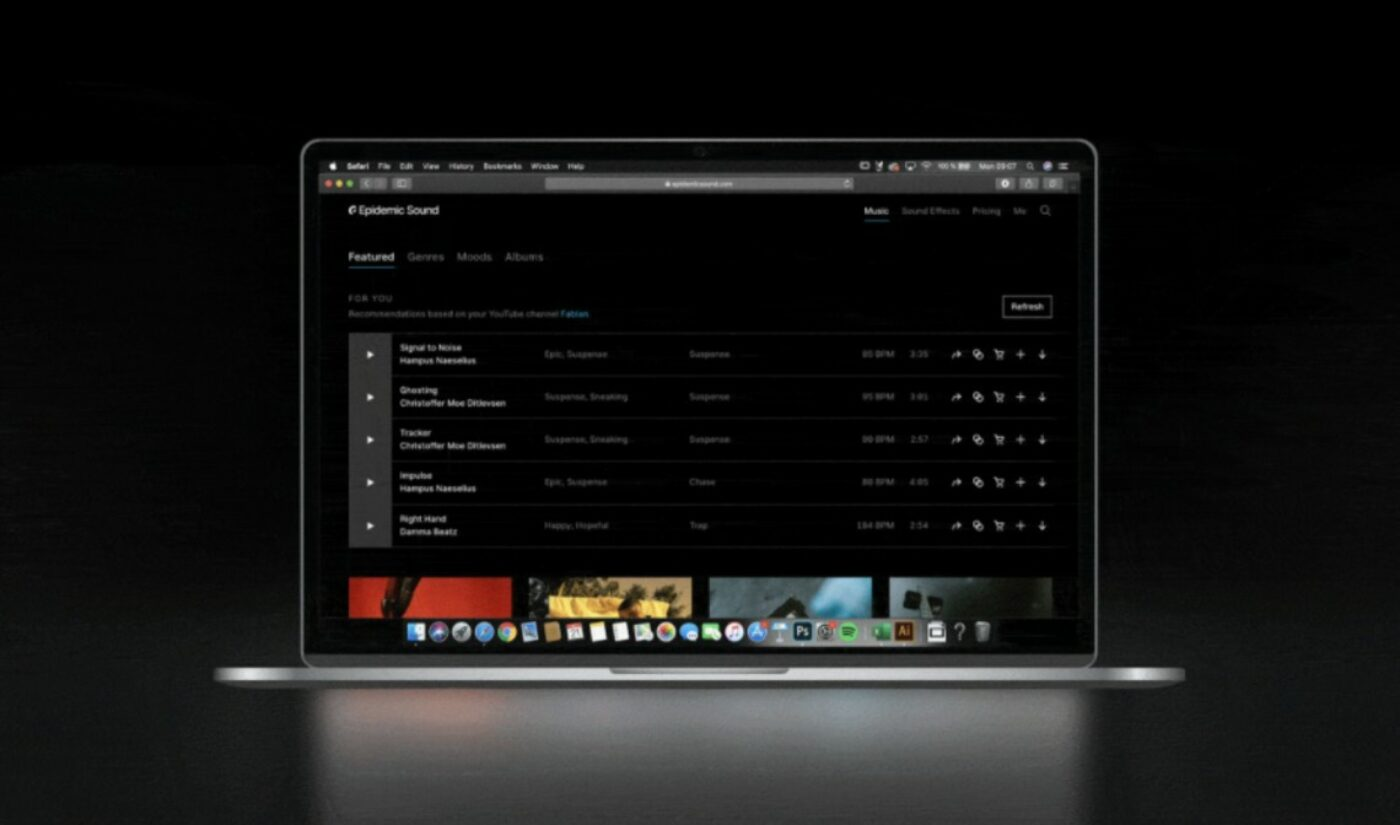 YouTube Soundtracking Service Epidemic Sound Launches 'Music Recommender' Tool For Creators