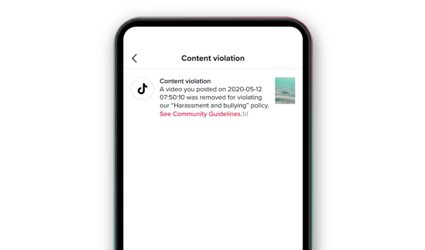 TikTok To Provide Greater Insight Into Video Takedowns With New Notification System