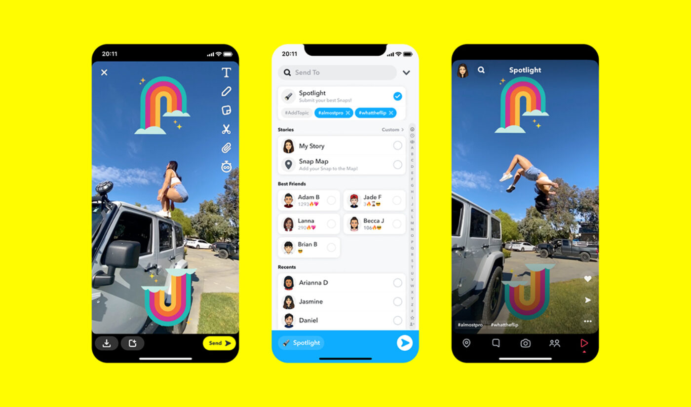 "Snapchat Giving $1 Million Per Day To ""Top"" Creators With New Short Video Platform 'Spotlight'"