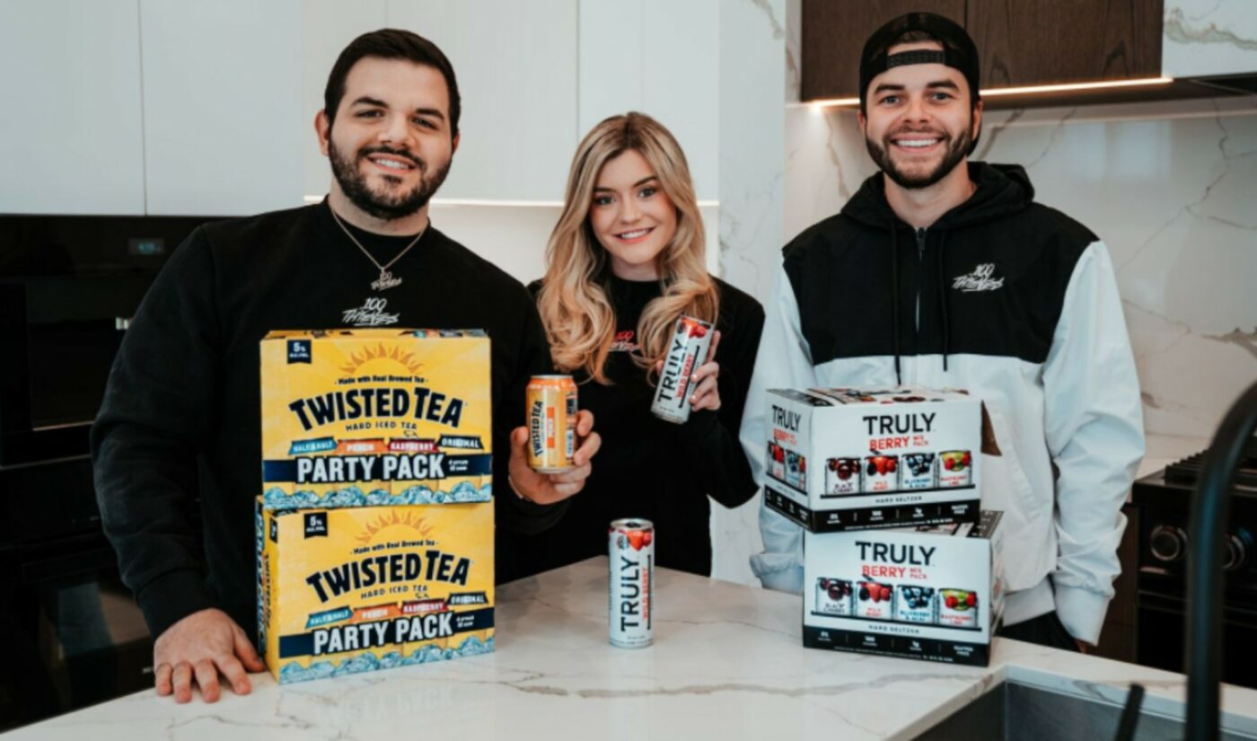 100 Thieves Forges Multi-Year Brand Deals With 2 'Boston Beer Company' Beverages