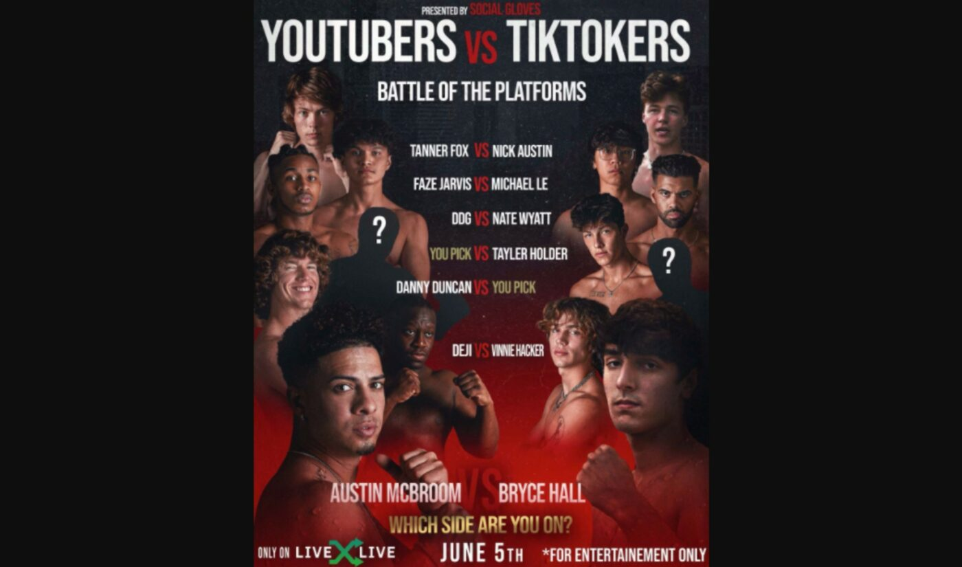 YouTube And TikTok Stars To Face Off In Inter-Platform Boxing Battle, Starring Austin McBroom, Bryce Hall
