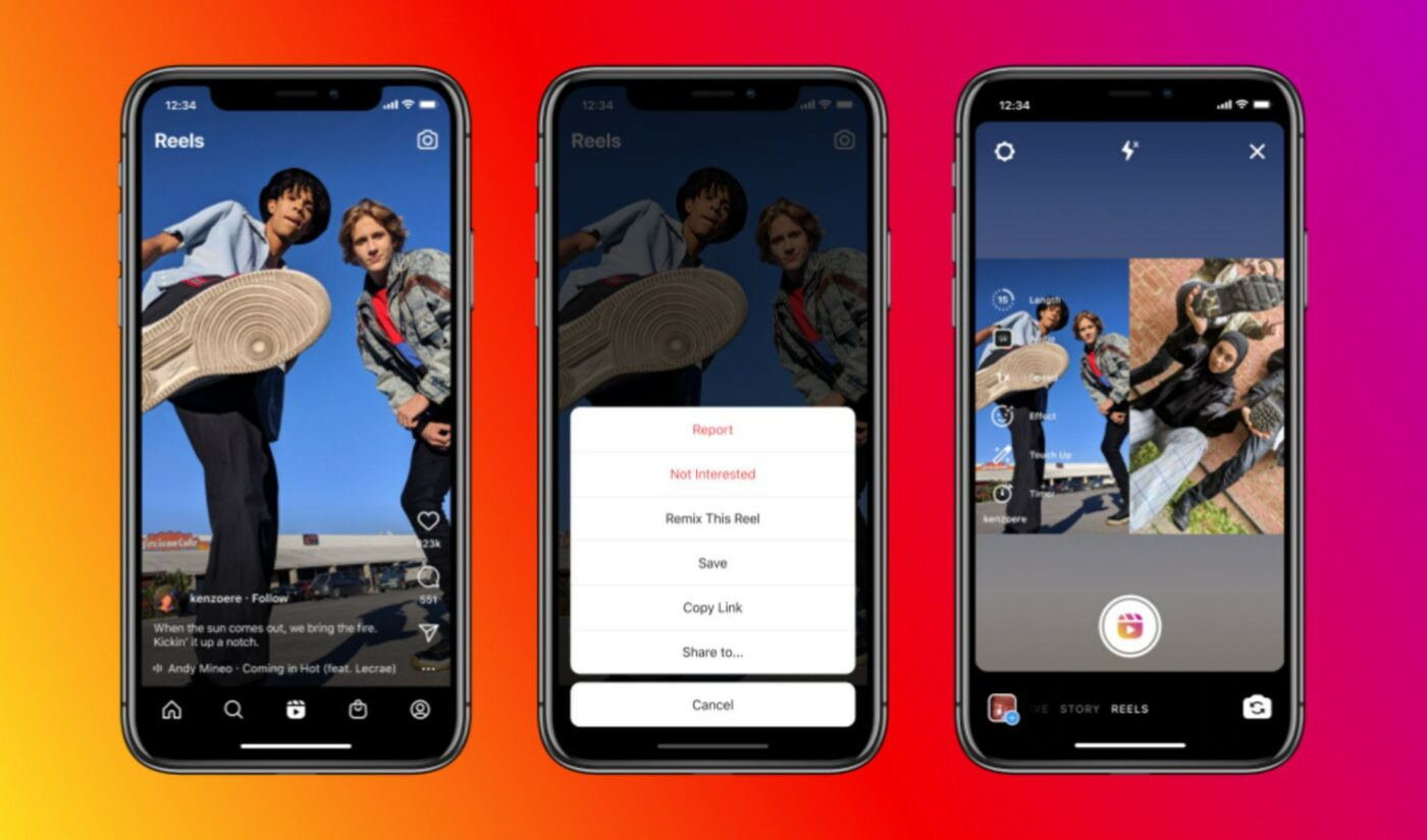 Instagram Launches TikTok Duet Copycat Feature Called 'Remix'