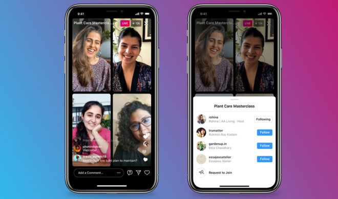 Instagram Aims For Clubhouse Feel With New 4-Person 'Live Rooms'
