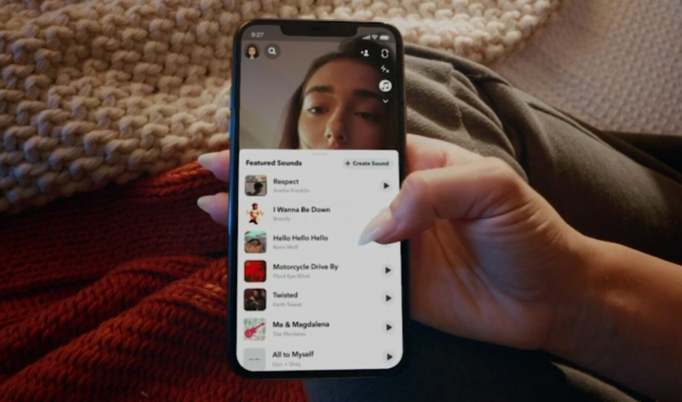 Snapchat Launches 'Sounds', Enabling Users To Orchestrate Snaps, Stories With Licensed Music