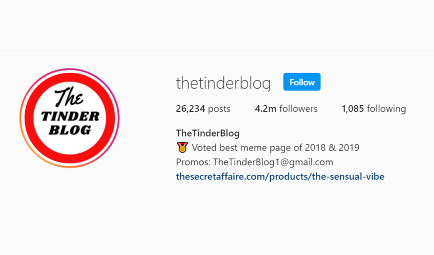 Instagram Aggregator 'The Tinder Blog' Acquired By Clubhouse Media