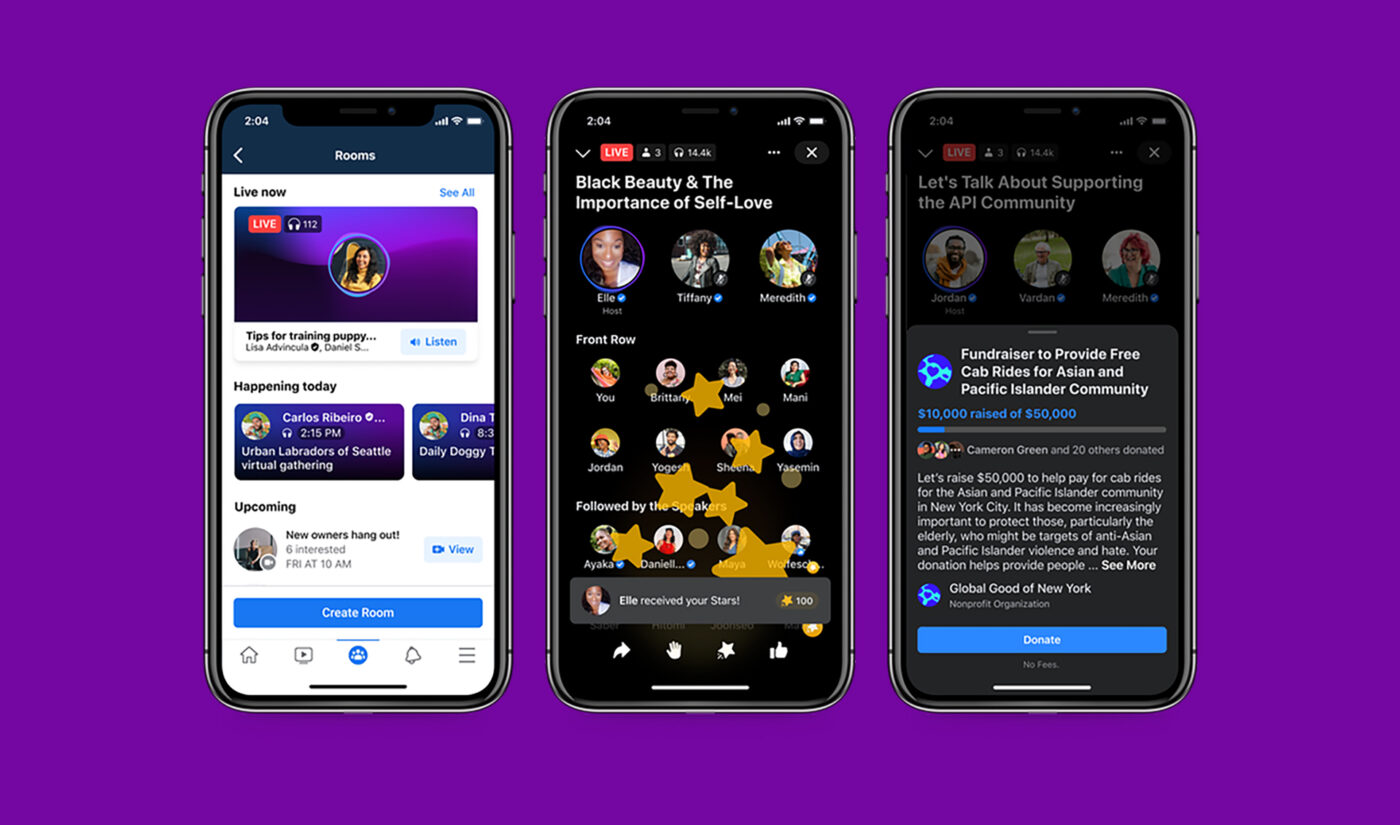 Facebook Enters Audio Space With Clubhouse Competitor, Podcast Suite As Clubhouse Raises Series C At $4 Billion Valuation