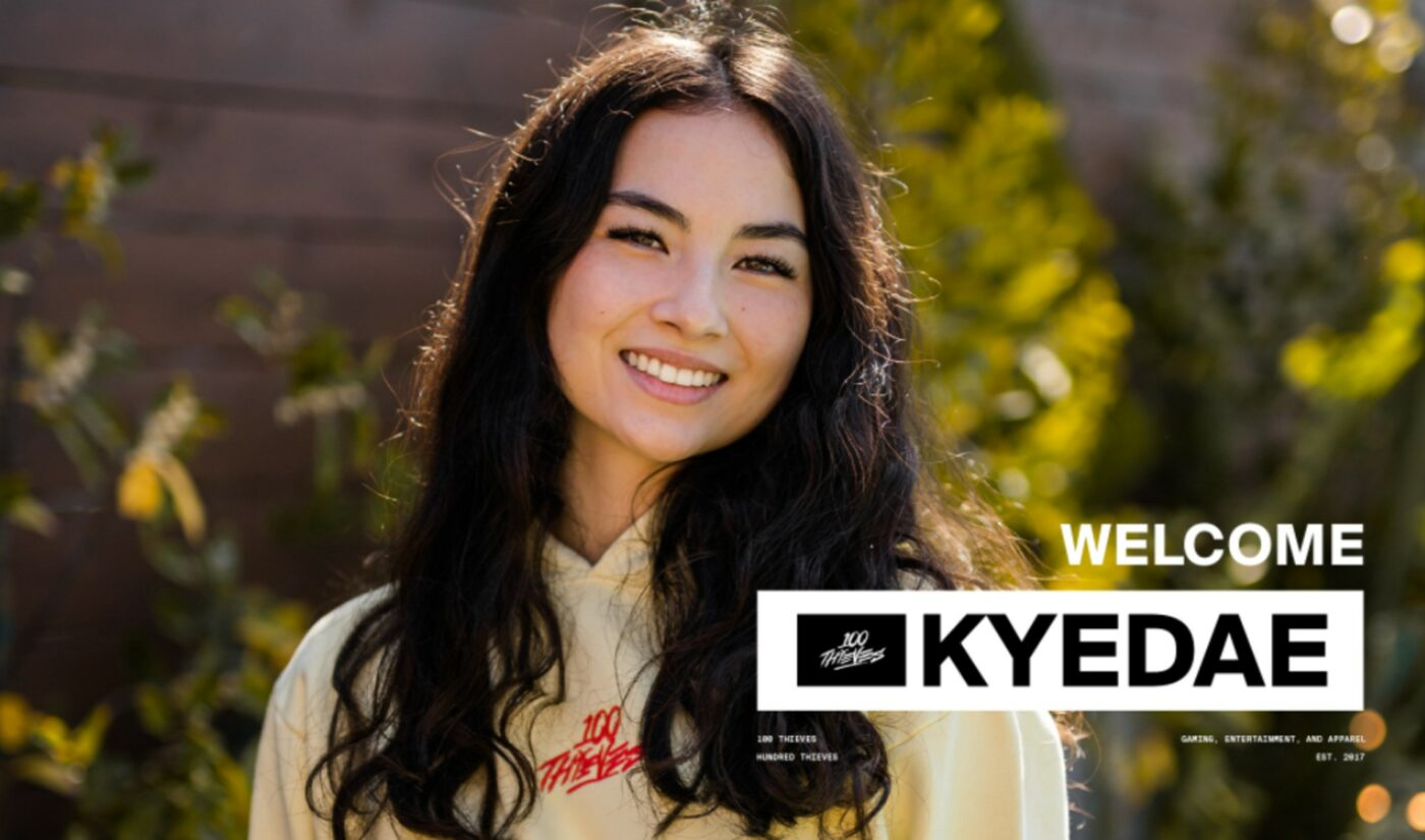 100 Thieves Signs Nascent Streamer 'Kyedae' Amid Ongoing Bid To Elevate Women In Gaming