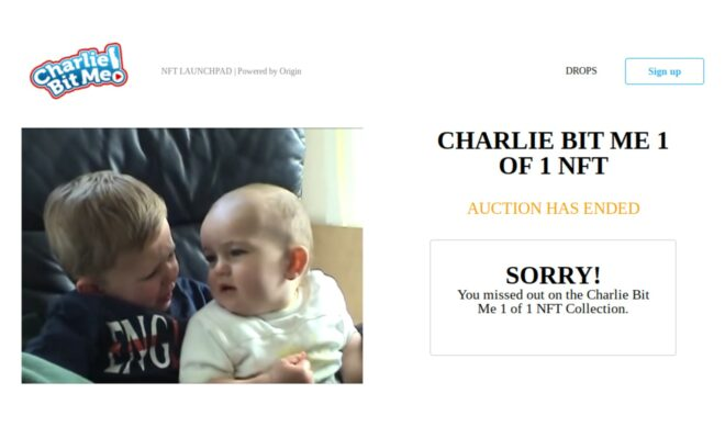 'Charlie Bit My Finger' Viral Video To Be Deleted From YouTube Following $761,000 NFT Sale