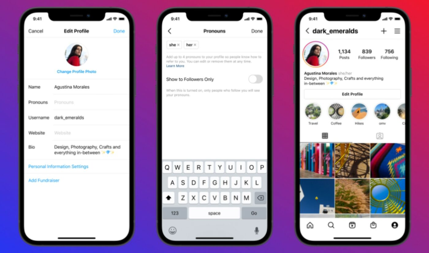 Instagram Launches Dedicated Field For Pronouns In User Profiles