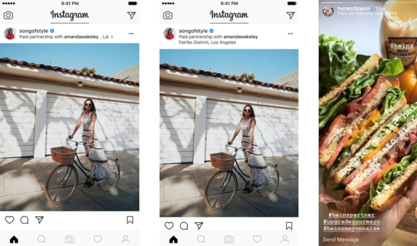 Instagram Unveils Branded Content Updates, Including Ability To Tag 2 Brands In Single Sponsored Post
