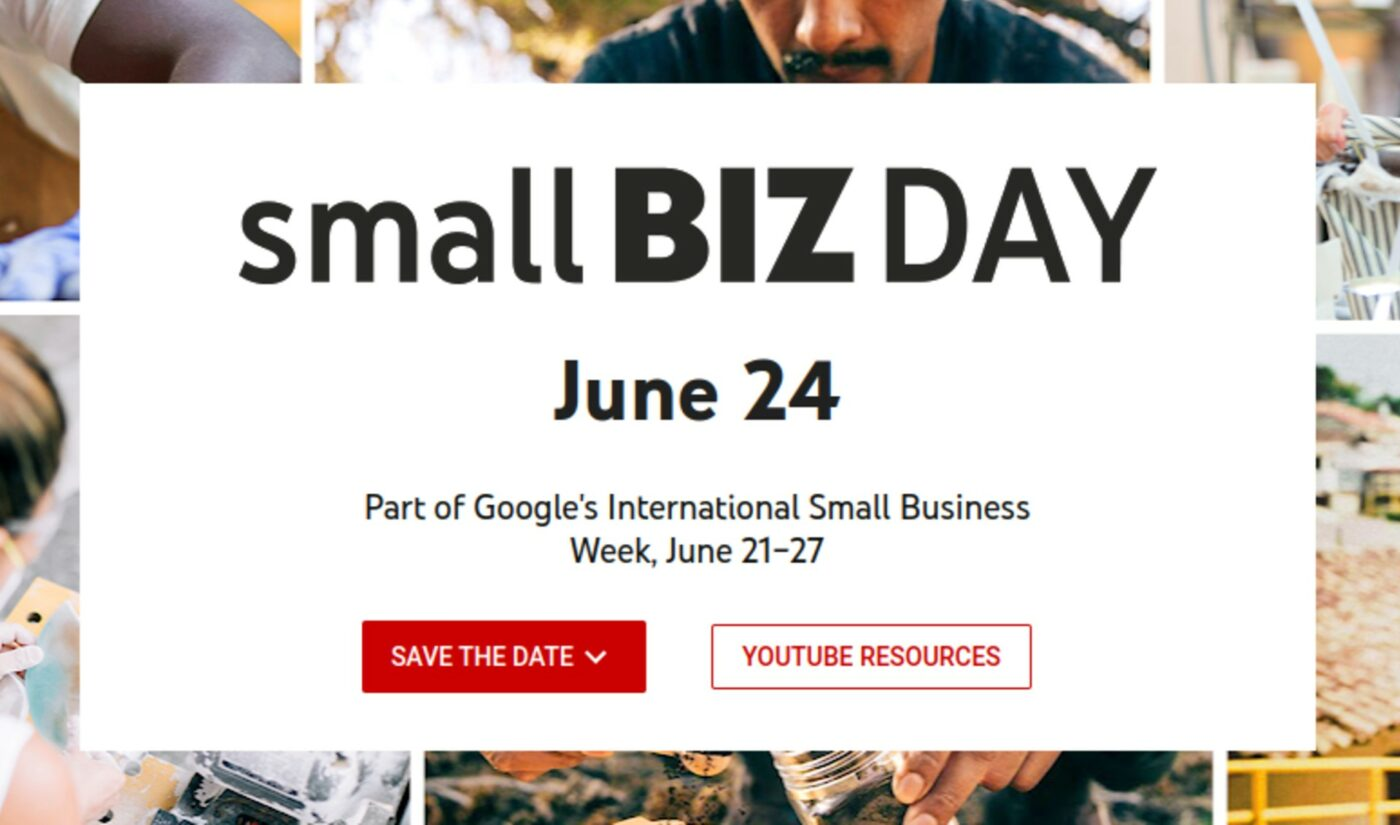 YouTube To Host First-Ever 'Small Biz Day' With Live Shopping Stream, Creator-Led Workshops