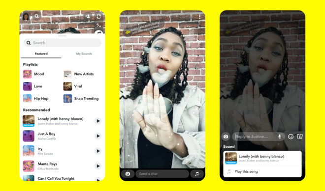 Snap, Universal Music Group Sign Multiyear Deal Adding UMG's Entire Song Library To Snapchat's 'Sounds' Tool