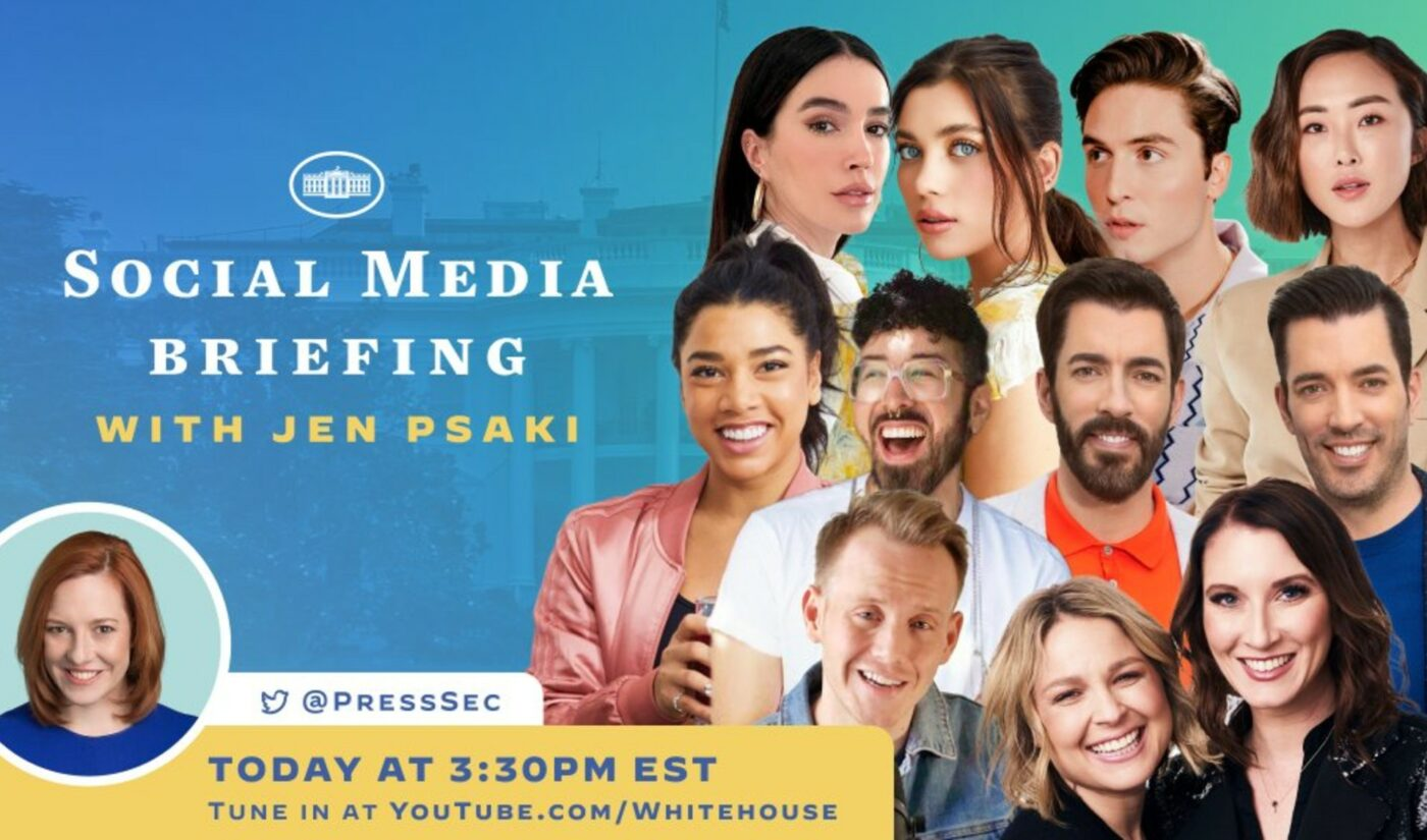 White House Press Secretary Jen Psaki Hosts First-Ever Briefing With Social Media Stars