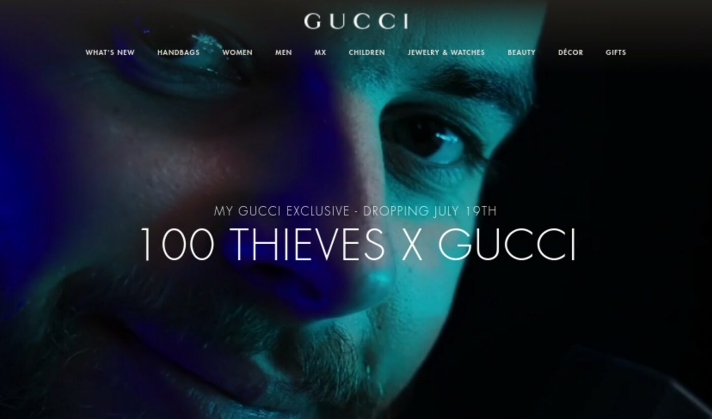 100 Thieves Nabs Collaboration With Gucci In Impressive Sign For The Gaming Industry