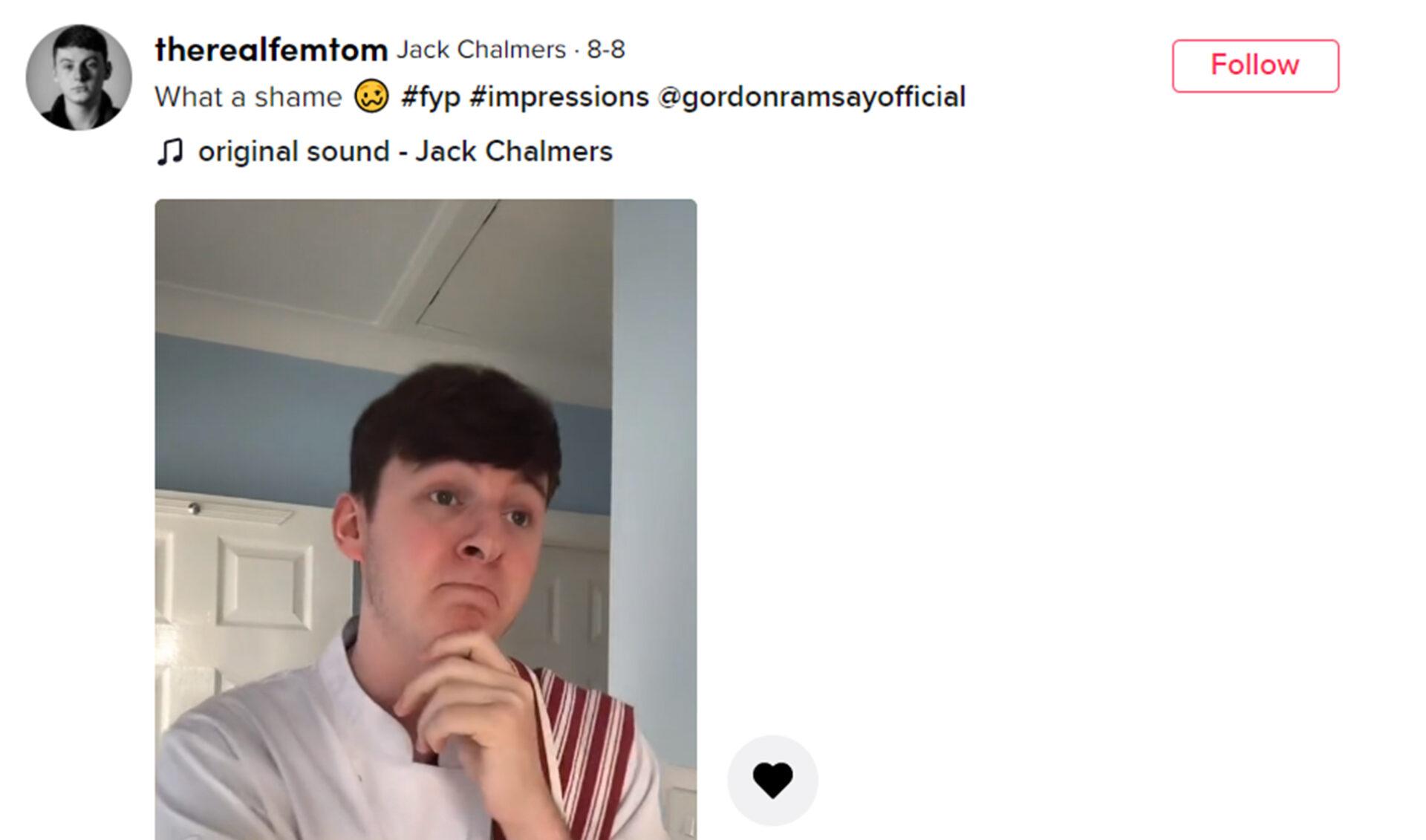 Viral TikTok Nabs Creator A Spot At Gordon Ramsay's Dinner Table