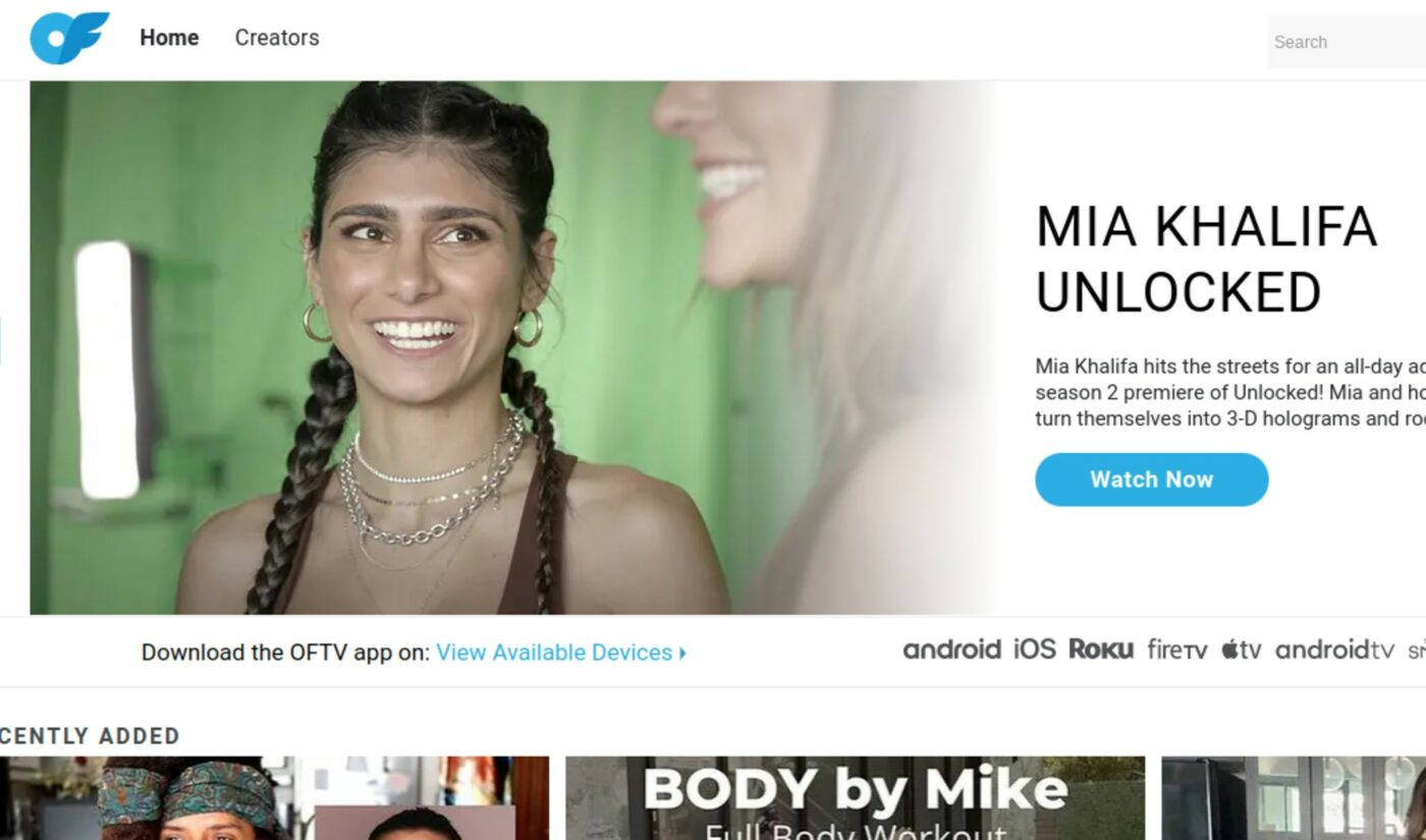 OnlyFans Goes Nudity And Ad-Free With Its First Mobile App 'OFTV'