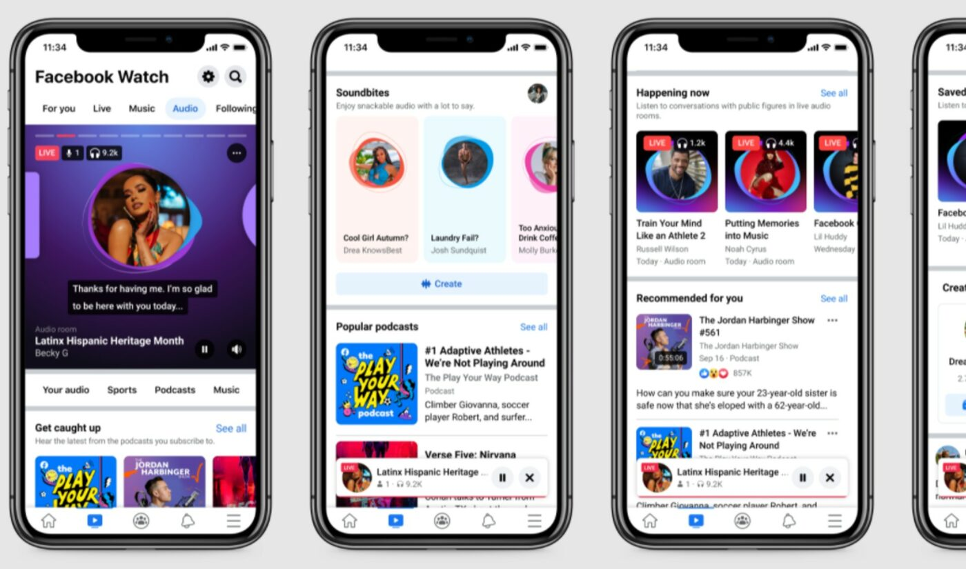 Facebook Unveils Central Hub For All Audio Formats Within 'Watch'