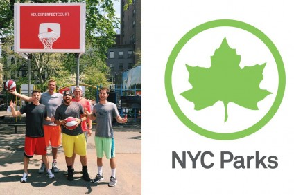YouTube Sports Stars Dude Perfect Help Renovate NYC Street Basketball Courts
