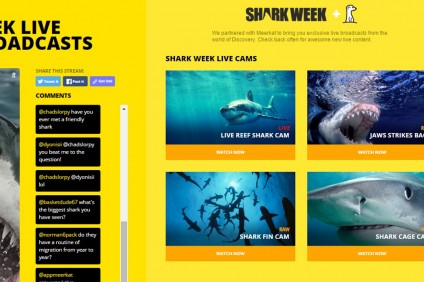 Discovery Live Streams Shark Week Through Meerkat